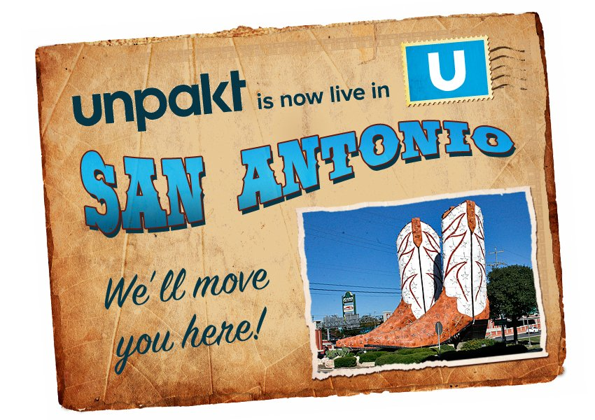 Unpakt Launches in San Antonio