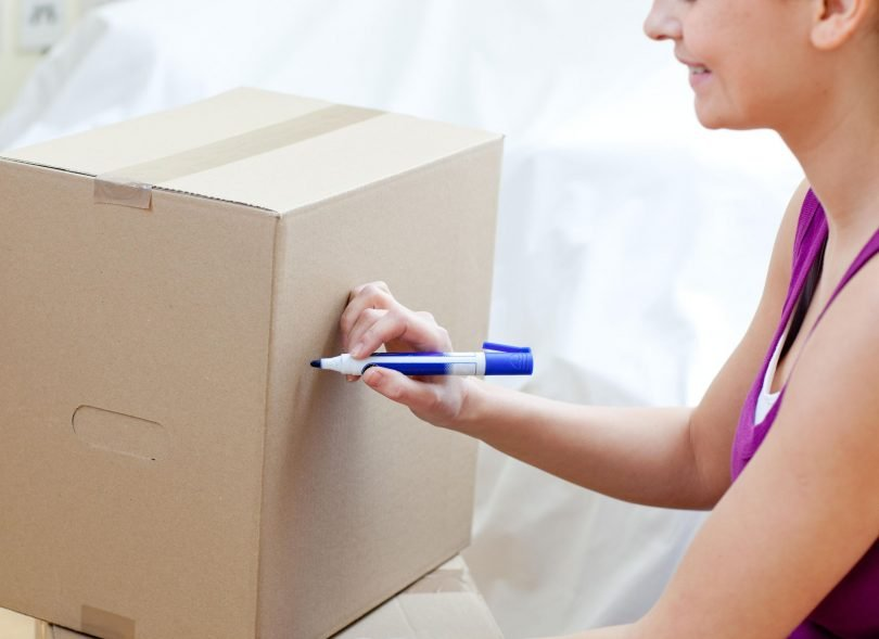 label your moving boxes