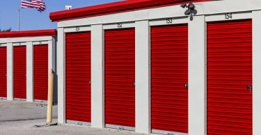 Numbered Self Storage garage