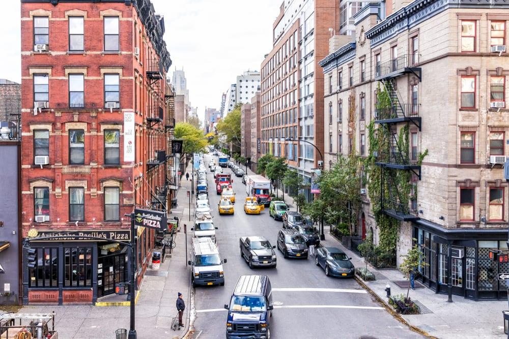 new york city street with traffic