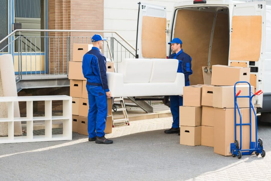 moving men with furniture