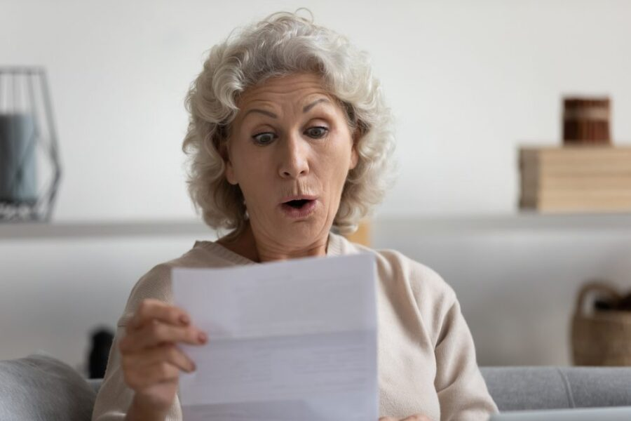 woman seeing surprise fees