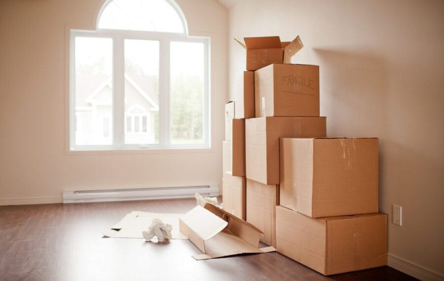 empty moving boxes