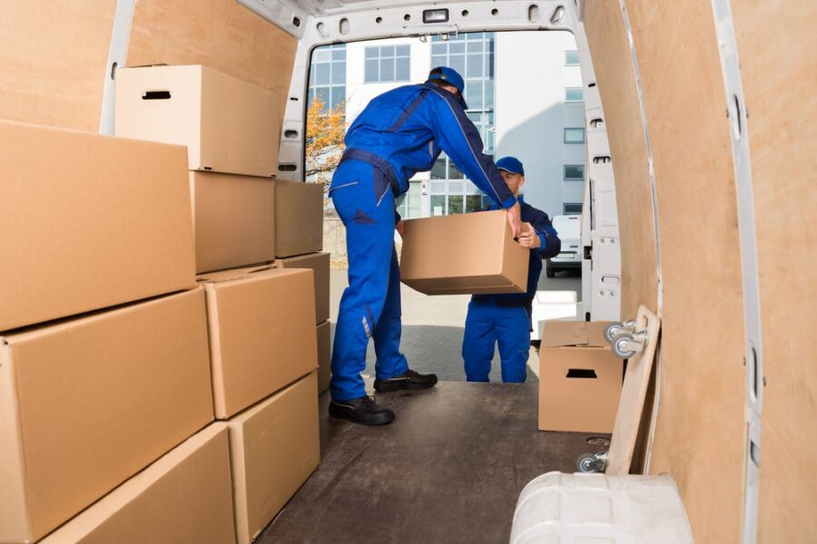 loading moving truck