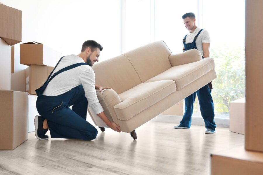 moving men with sofa